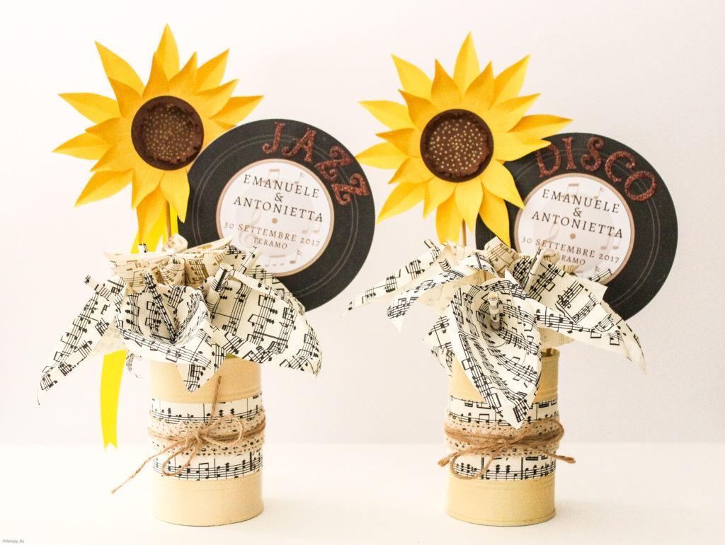 Segnatavolo Matrimonio Girasoli : Girasoli in barattolo pack pezzi mirabile carta